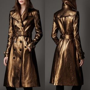 New Burberry leather trench coat